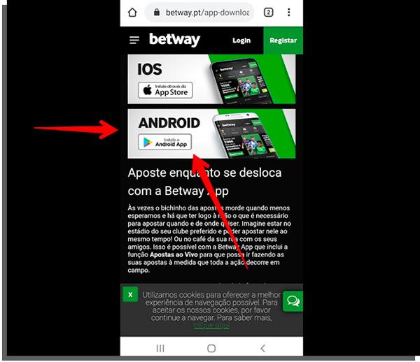 Métodos para descargar Betway App.
