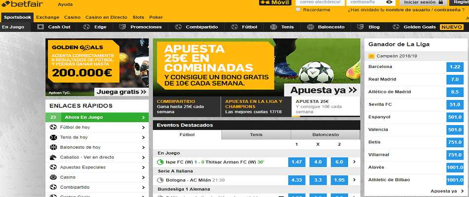 Beneficios de Betfair App: descargar para Android y iOS.
