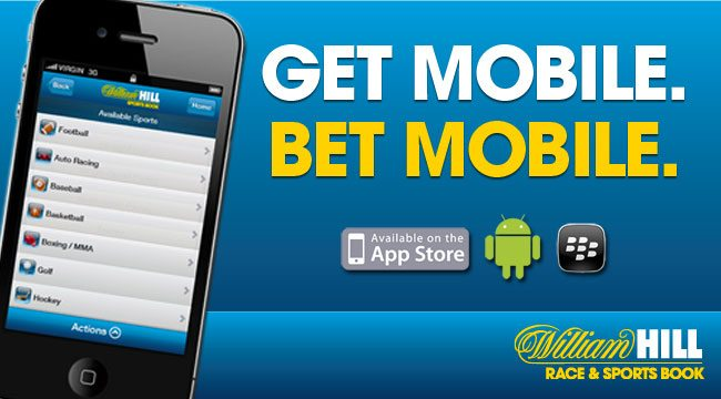 William Hill movil versión para iOS.
