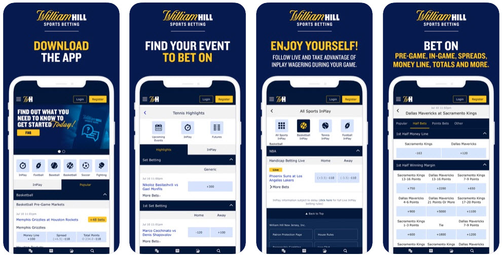 App William Hill está disponible para Android, iOS y Windows.